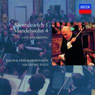 ショスタコーヴィチ:交響曲第5番『革命』、メンデルスゾーン:『イタリア』 ショルティ&ウィーン・フィル