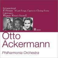R.Strauss 4 Letzte Lieder, Capriccio Last Scene -Schwarzkopf(S), Wagner Arias -Edelmann(B-Br): Ackermann / Philharmonia