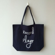 Typography Tote Record Player (Lサイズ)(Nw)