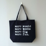 Typography Tote More Music  (Lサイズ)(Nw)