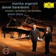 ストラヴィンスキー:春の祭典、モーツァルト:2台のピアノのためのソナタ、シューベルト:8つの変奏曲 アルゲリッチ、バレンボイム