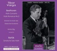 ベートーヴェン:ヴァイオリン協奏曲、バルトーク:無伴奏ヴァイオリン・ソナタ、他 ティボール・ヴァルガ、ツィリヒ&ヘッセン放送響(1949〜51)