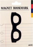 マグネットブックマーク Glasses Black (文具)