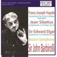 シベリウス:交響曲第2番、エルガー:交響曲第2番、ハイドン:交響曲第92番 バルビローリ&ボストン響(1964 ステレオ)(2CD)