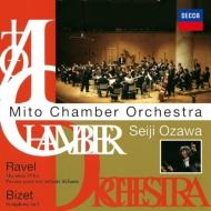 ビゼー:交響曲、ラヴェル:クープランの墓、パヴァーヌ、ストラヴィンスキー:『プルチネッラ』組曲、他 小澤征爾&水戸室内管(2CD)