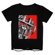 TシャツC(黒 : マシン・未来派/ダメージ加工) 【M】/ BUCK-TICK TOUR 2014 metaform nights 〜或いはアナーキー〜