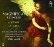 バッハ:マニフィカト、チェンバロ協奏曲第1番、ヴィヴァルディ:マニフィカト、他 サヴァール&ル・コンセール・デ・ナシオン、アンタイ