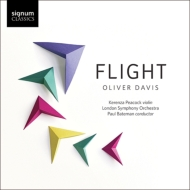 ヴァイオリン協奏曲『フライト』『ボイジャー』『スカイウォード』『エアボーン・ダンス』、他 ケレンツァ・ピーコック、ベイトマン&ロンドン響