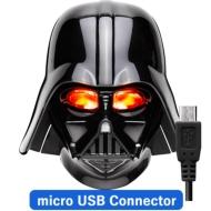 Micro USBコネクタ 顔型AC充電器2A/ STARWARS(ダースベイダー)