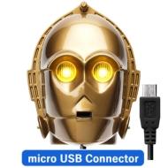 Micro USBコネクタ 顔型AC充電器2A/ STARWARS(C-3PO)
