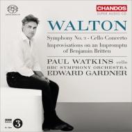 交響曲第2番、チェロ協奏曲、ブリテンの即興曲によるインプロヴィゼーション ガードナー&BBC響、P.ワトキンス