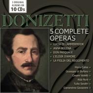 5つの歌劇全曲〜ルチア、愛の妙薬、アンナ・ボレーナ、連隊の娘、ドン・パスクァーレ カラス、シミオナート、ディ・ステーファノ、アルヴァ、パリューギ、他(10CD)