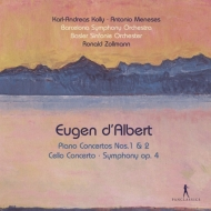 Piano Concerto, 1, 2, Cello Concerto, Symphony: Kolly(P)Meneses(Vc)Zollmann / Barcelona So Basle So