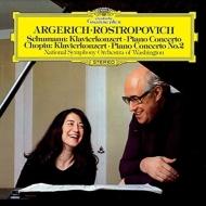 シューマン:ピアノ協奏曲、ショパン:ピアノ協奏曲第2番 アルゲリッチ、ロストロポーヴィチ&ワシントン・ナショナル響