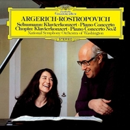 Schumann Piano Concerto, Chopin Piano Concerto No.2 : Argerich(P)Rostropovich / National Symphony Orchestra