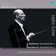 ベートーヴェン:交響曲第3番『英雄』、ショスタコーヴィチ:交響曲第5番『革命』 ムラヴィンスキー&レニングラード・フィル(ベルゲン・ライヴ1961)(2CD)