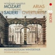 モーツァルト:序曲とアリア集、サリエリ:序曲とアリア集 郭森、ターヴァー、ボイド&ヴィンタートゥール・ムジークコレギウム(2SACD)