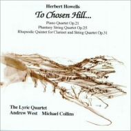 Piano Quartet, Phantasy String Quartet, Rhapsodic Quintet: A.west(P)M.collins(Cl)Lyric Q