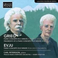 グリーグ:ピアノ協奏曲(グレインジャー&グリーグ改訂版)、エヴユ:グリーグの断章によるピアノ協奏曲 ペテルソン、ストラットン&プラハ放送響