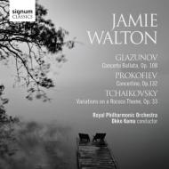 *チェロ・オムニバス*/Works For Cello & Orch-tchaikovsky Glazunov Prokofiev: J.walton(Vc) Kamu / Rpo