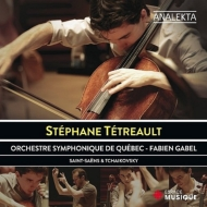 サン=サーンス:チェロ協奏曲第1番、チャイコフスキー:ロココ変奏曲、他 ステファン・テトロー、ギャベル&ケベック響