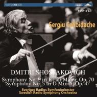 交響曲第5番『革命』、第9番 チェリビダッケ&スウェーデン放送響(1967、64ステレオ)