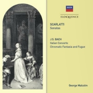 D.Scarlatti Keyboard Sonatas, J.S.Bach Italian Concerto, Chromatic Fantasia & Fugue : G.Malcolm(Cemb)