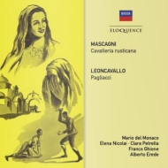マスカーニ:カヴァレリア・ルスティカーナ、レオンカヴァッロ:道化師 デル・モナコ、プロッティ、ギオーネ&スカラ座、他(1954、53 モノラル)(2CD)