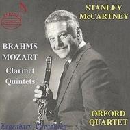 Mozart Clarinet Quintet, Brahms Clarinet Quintet : Stanley Mccartney(Cl)Orford Quartet