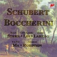 シューベルト:弦楽五重奏曲、ボッケリーニ:弦楽五重奏曲 ヨーヨー・マ、スターン、チョーリャン・リン、ラレード、ロビンソン