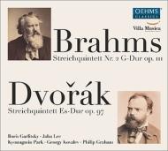 ブラームス:弦楽五重奏曲第2番、ドヴォルザーク:弦楽五重奏曲第3番 ガルリツキー、「ヴィラ・ムジカ・ラインラント=プファルツ」の奨学生たち