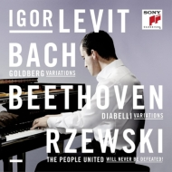 Igor Levit : J.S.Bach Goldberg Variations, Beethoven Diabelli Variations, Rzewski The United People Never be Defeated! (3CD)