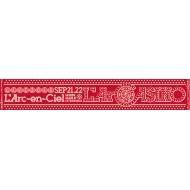 マフラータオルA(RED)【L'Arc〜en〜Ciel LIVE 2015「L'ArCASINO」オフィシャルグッズ】