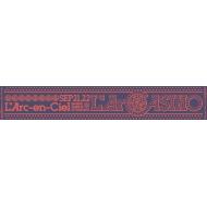 マフラータオルB(NAVY)【L'Arc〜en〜Ciel LIVE 2015「L'ArCASINO」オフィシャルグッズ】