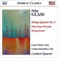 弦楽四重奏曲第5番、『魔人ドラキュラ』組曲、弦楽六重奏曲 カードゥッチ弦楽四重奏団、オドゥイル、ローズフィールド