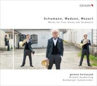 4本のホルン管弦楽のための作品集(L.モーツァルト、シューマン、マドセン) ジャーマン・ホルン・サウンド、M.ザンデルリンク&バンベルク交響楽団