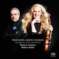 ヴァイオリン作品集/Mendelssohn Janacek Schumann: Violin Sonata: Lamsma(Vn) Kulek(P) (Hyb)