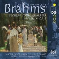 Secular Vocal Quartets with Piano Vol.2 : Straube / Norddeutscher Figuralchor (Hybrid)