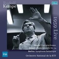 Berlioz Symphonie Fantastique, Mozart Piano Concerto No.24, etc : R.Kempe / French National Radio Orchestra, Curzon(P)(1959 Salzburg)(2CD)