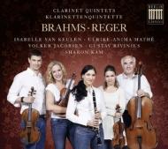ブラームス:クラリネット五重奏曲、レーガー:クラリネット五重奏曲 シャロン・カム、クーレン、マテ、ヤコブセン、G.リヴィニウス