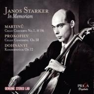 マルチヌー:チェロ協奏曲第1番、プロコフィエフ:チェロ協奏曲第1番、他 シュタルケル、ネルソン&チェコ放送響、ジュスキント&フィルハーモニア管