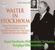 Bruno Walter in Stockholm -Brahms Ein Deutsches Requiem, Schubert Symphony No.9, Mozart Symphony No.39, etc (1950)(3CD)