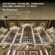 コープマン、1726年製ヒルデブラント・オルガンを弾く〜バッハ、ブクステフーデ、パッヘルベル、ヴァルター、ホミリウス