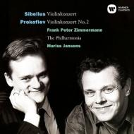 シベリウス:ヴァイオリン協奏曲、プロコフィエフ:ヴァイオリン協奏曲第2番 ツィンマーマン、ヤンソンス&フィルハーモニア管