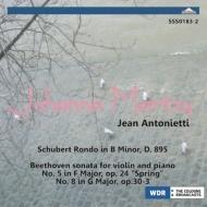 ベートーヴェン:ヴァイオリン・ソナタ第5番『春』、第8番、シューベルト:華麗なるロンド マルツィ、アントニエッティ(1957)
