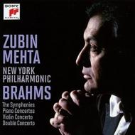 Complete Symphonies, Conceros : Mehta / New York Philharmonic, Barenboim(P)Stern, Zukerman(Vn)Harrell(Vc)(8CD)