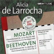 Beethoven Piano Concerto No.3, Mozart Piano Concerto No.22 : Larrocha(P)Bour / SWR SO, Navarro / Stuttgart RSO (1977, 1986)