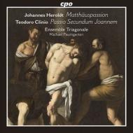 ヘロルト:マタイ受難曲、クリニオ:ヨハネの受難より パウムガルテン&アンサンブル・トリアゴナーレ