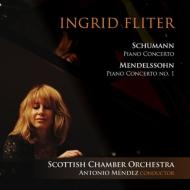 シューマン:ピアノ協奏曲、メンデルスゾーン:ピアノ協奏曲第1番 フリッター、A.メンデス&スコットランド室内管