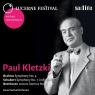 Brahms Symphony No.4, Schubert Symphony No.8, Beethoven Leonore overture No.3 : Kletzki / Lucerne Festival Orchestra (1946)